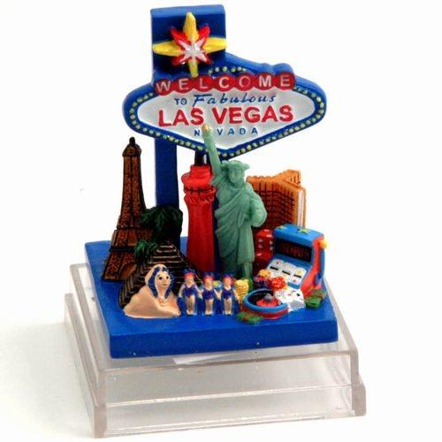 Las Vegas Strip Mini Polyresin Model W Box