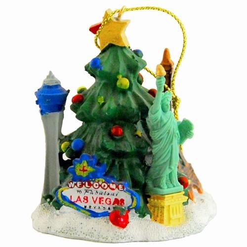 Las Vegas Christmas Tree/Icons Poly Ornament - Smith Novelty Las Vegas Souvenir Christmas Ornament