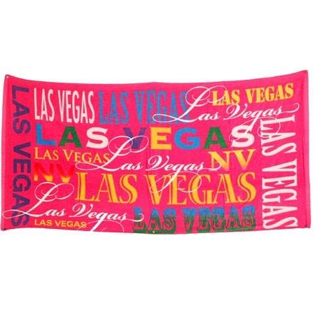 Las Vegas Pink Typography 30x60 Towel