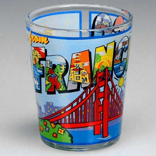 Smith novelty san francisco shotglass san francisco greetings from sf shotglass m4hsunfo
